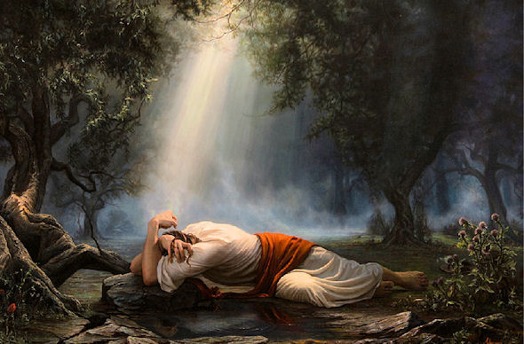 Scriptures nunspeak Jesus praying in the garden of gethsemane
